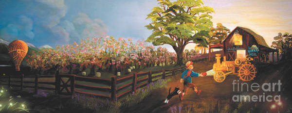 Painting - West Barn by Donna Hall
