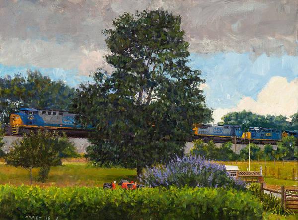 Wall Art - Painting - Westbound Freight, Crozet by Edward Thomas