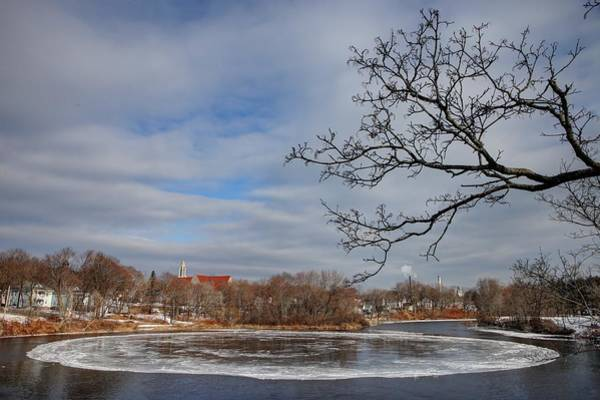 Photograph - Westbrook Ice Wheel by John Meader