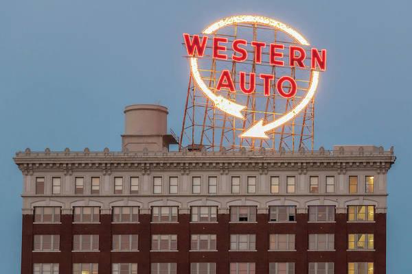 Photograph - Western Auto Sign by Allin Sorenson