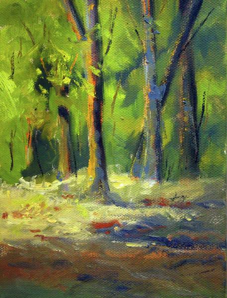 Wall Art - Painting - Western Forest Scene by Nancy Merkle