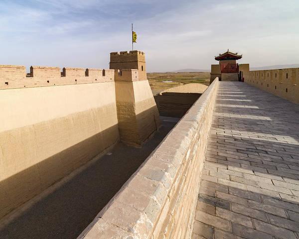 Photograph - Western Great Wall Of China Guan City Jiayuguan Gansu China by Adam Rainoff