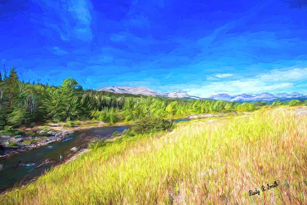 Digital Art - Western Montana Landscape. by Rusty R Smith