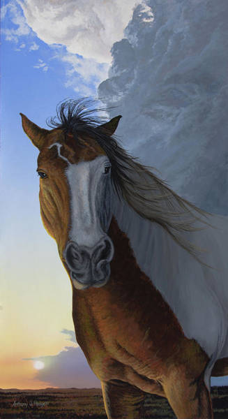 Painting - Western Storm by Anthony J Padgett