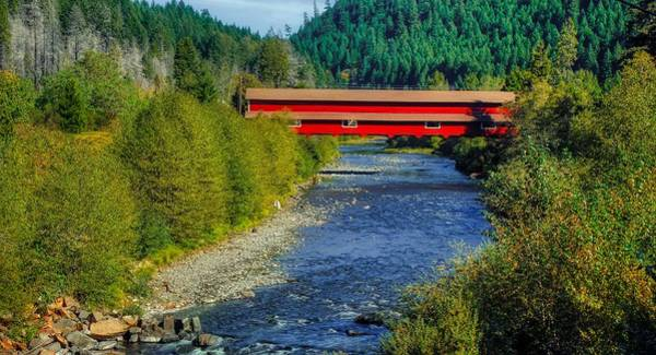 Wall Art - Photograph - Westfir Covered Bridge - Willamette National Forest, Oregon by U S F S