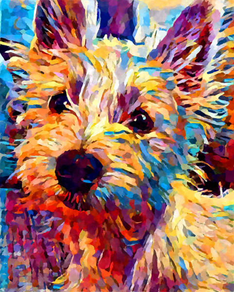Wall Art - Painting - Westie 2 by Chris Butler