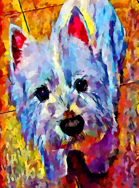 Wall Art - Painting - Westie 3 by Chris Butler
