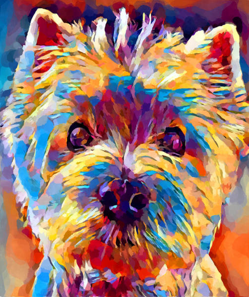 Wall Art - Painting - Westie 4 by Chris Butler