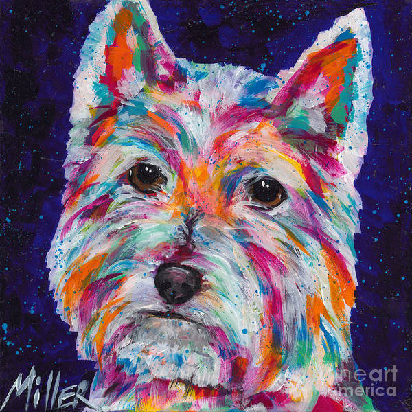 Wall Art - Painting - Westie by Tracy Miller