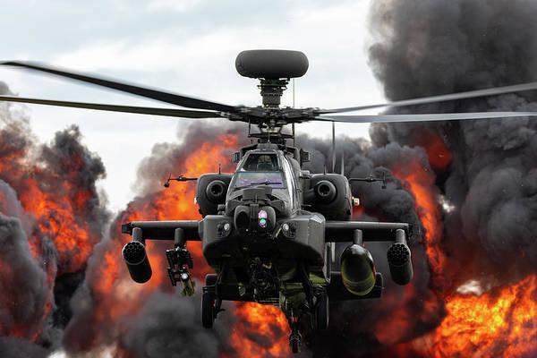 Photograph - Westland Apache Explosion Raf Cosford Airshow 2019 by Scott Lyons