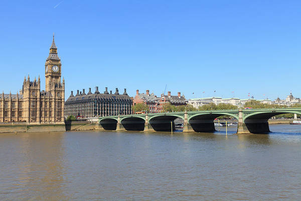 Houses Of Parliament Wall Art - Photograph - Westminster Bridge, London by Fraser Hall