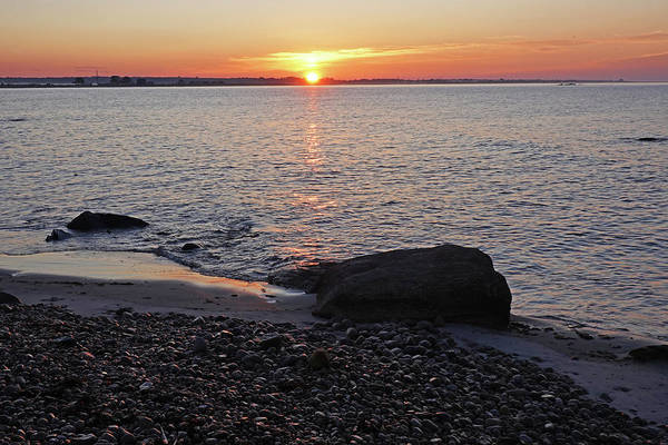 Photograph - Westport City Beach Sunrise Westport Ma Golden Sunrise by Toby McGuire