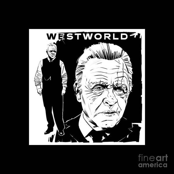 Wall Art - Digital Art - Westworld Old Man by Reko Lian