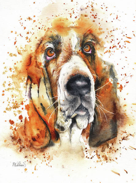 Painting - Wet Basset by Peter Williams