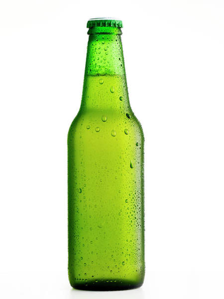 Alcohol Photograph - Wet Beer Bottle by Ultramarinfoto