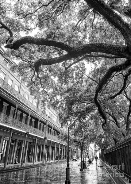 Photograph - Wet Morning In Jackson Square New Orleans by John Rizzuto