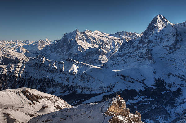 Switzerland Photograph - Wetterhorn And Eiger by Photo By Gerhard Rasi