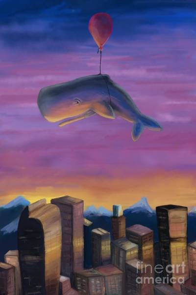 Digital Art - Whale Over Denver by Athena Lutton