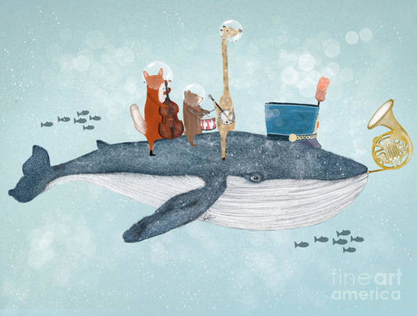 Wall Art - Painting - Whale Song by Bri Buckley