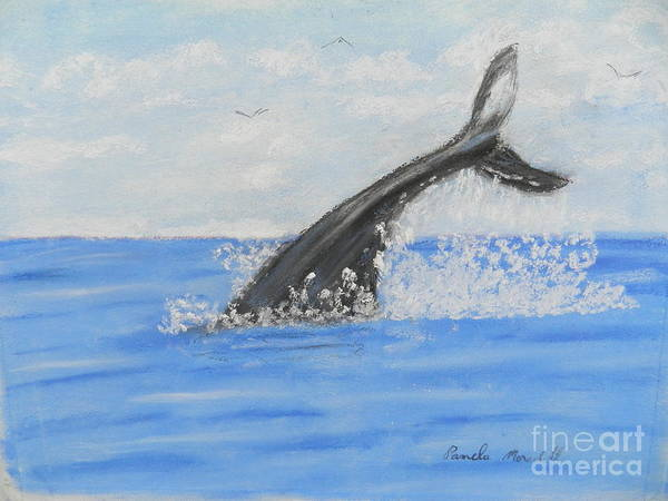 Wall Art - Painting - Whale Tail by Pamela Meredith