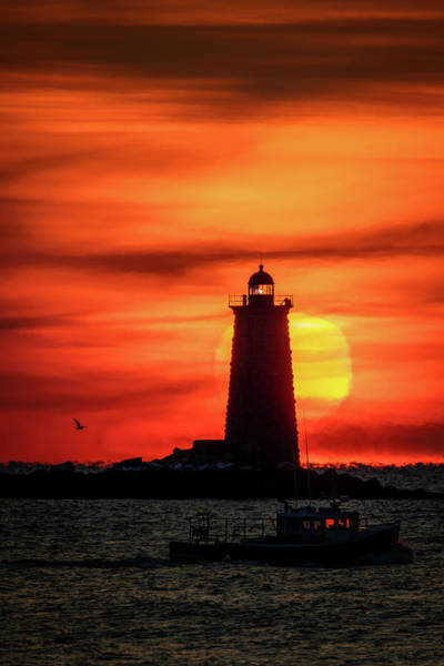 Photograph - Whaleback Light Sunrise by Colin Chase