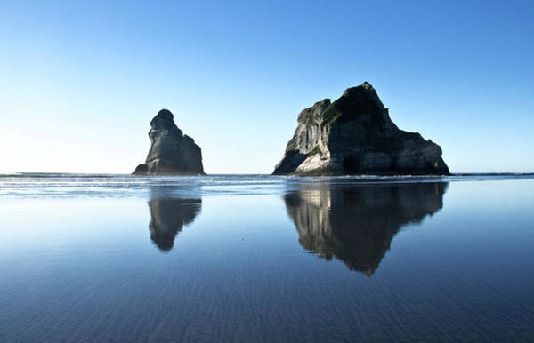 Bow River Wall Art - Photograph - Wharariki Beach Reflections by Photography By Tim Bow