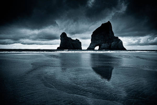 Awe Photograph - Wharariki Beach, Toned Image by Dan prat
