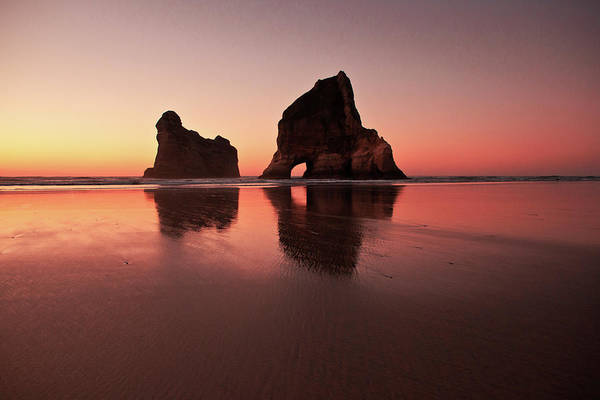 Wall Art - Photograph - Wharariki Sunset Glow by Photography By Tim Bow
