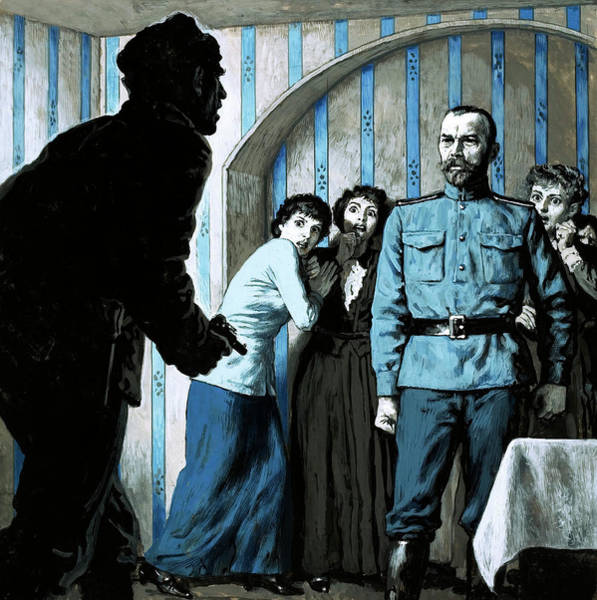 Murderer Painting - What Is The Meaning Of This Demanded The Outraged Czar Nicholas II Of Russia by English School