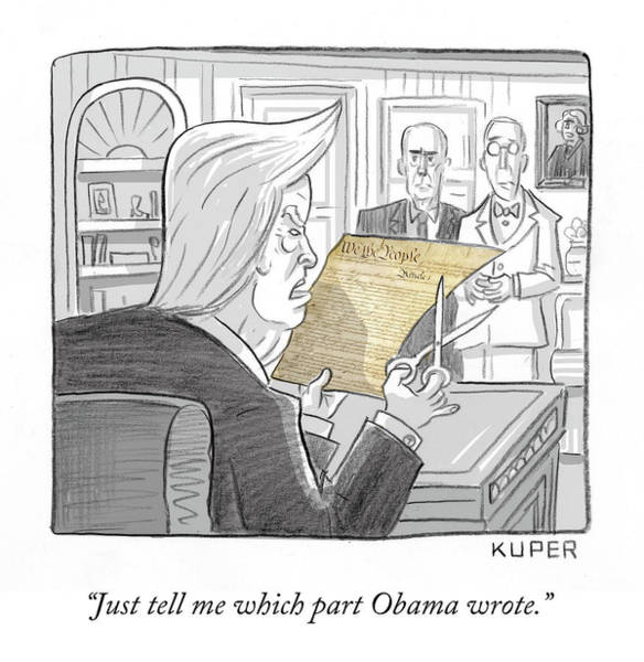 President Drawing - What Obama Wrote by Peter Kuper