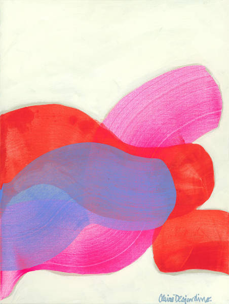 Wall Art - Painting - What To Say? by Claire Desjardins