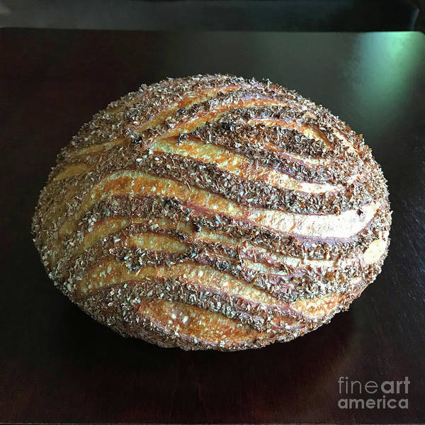 Photograph - Wheat Bran Wood Grain Sourdough 2 by Amy E Fraser