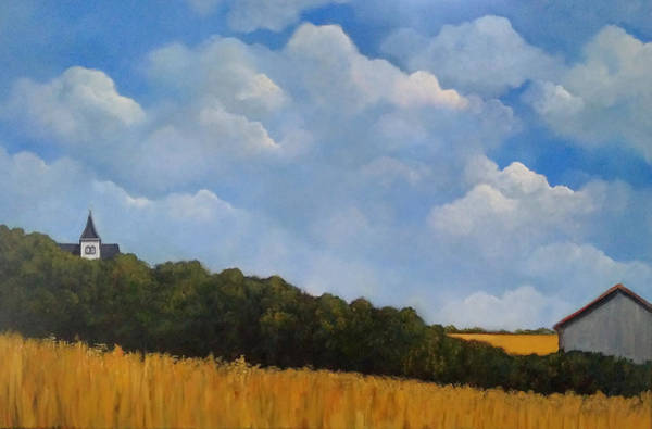 Wall Art - Painting - Wheat Fields In Summer by Joyce Geleynse