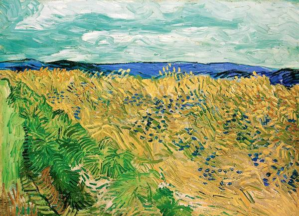 Wall Art - Painting - Wheatfield With Cornflowers - Digital Remastered Edition by Vincent van Gogh