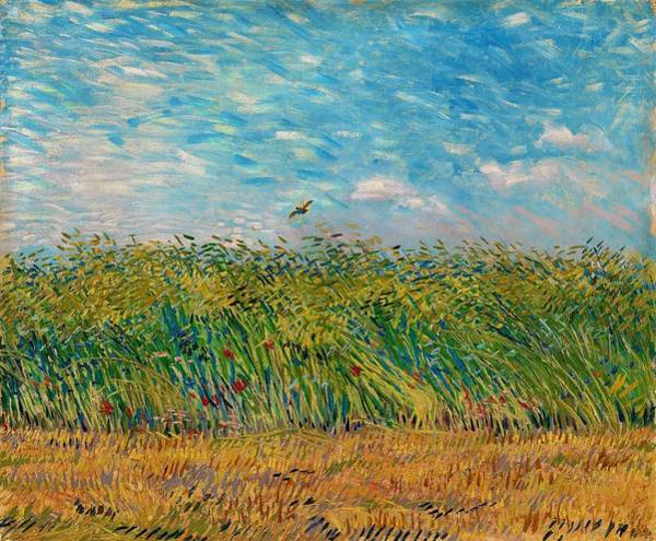 Wall Art - Painting - Wheatfield With Partridge - Digital Remastered Edition by Vincent van Gogh