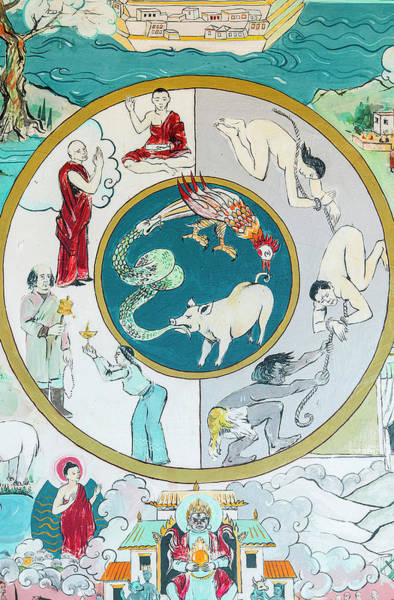 Wall Art - Photograph - Wheel Of Samsara. Temple by Uig