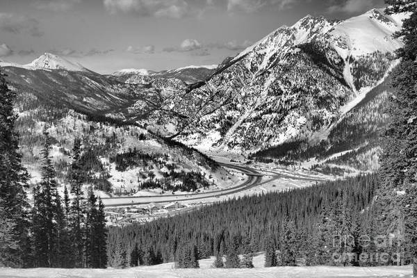 Photograph - Wheeler Junction Through The Pines Black And White by Adam Jewell