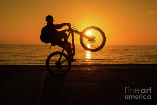 Photograph - Wheelies At Sunset by Keith Morris
