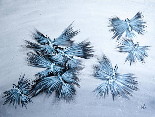 Wall Art - Painting - When Doves Fly by Melissa Smith