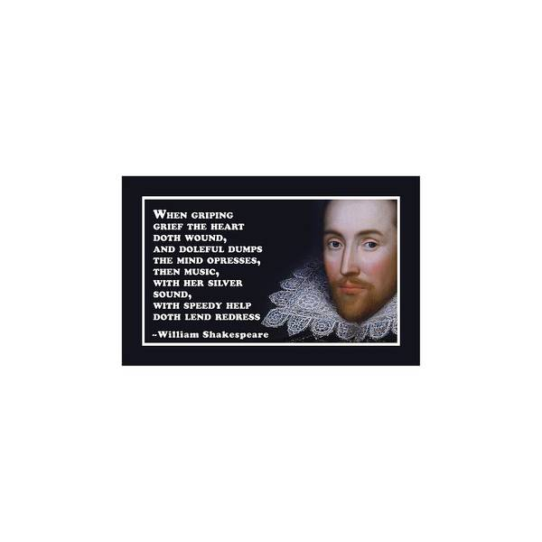 Wall Art - Digital Art - When Griping Grief #shakespeare #shakespearequote by Tinto Designs