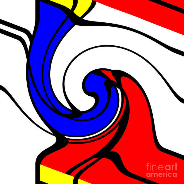 Drawing - When Mondrian Met Picasso by Aapshop