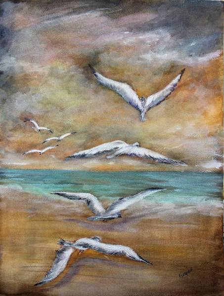 Painting - When Summer Ends by Florence Ferrandino