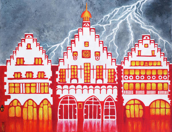 Wall Art - Painting - When Thunder Reigns by Iryna Goodall