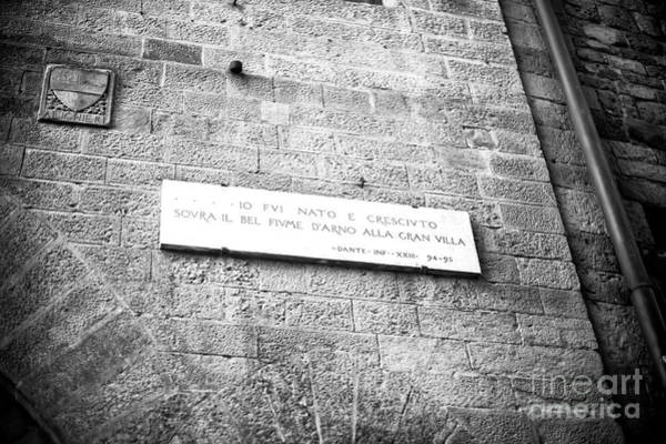 Photograph - Where Dante Was Born Florence by John Rizzuto