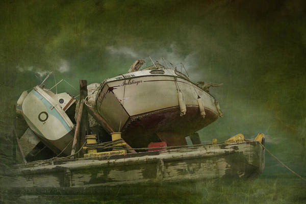 Wall Art - Digital Art - Where Old Boats Go To Die by Jeff Burgess
