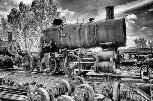 Wall Art - Photograph - Where Old Trains Go To Die by Paul W Faust - Impressions of Light