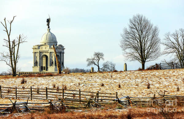 Gettysburg Address Wall Art - Photograph - Where Pennsylvania Fought At Gettysburg by John Rizzuto