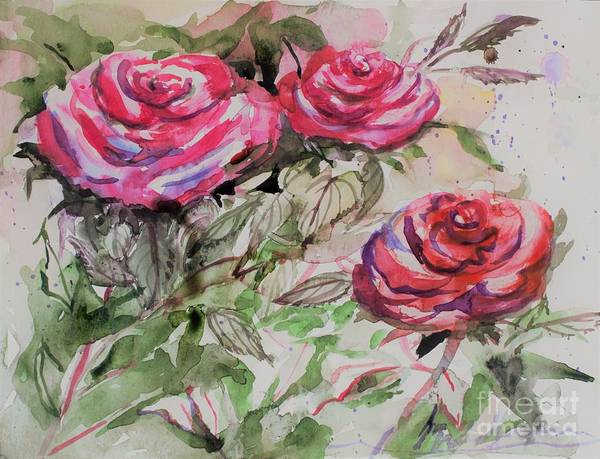 Wall Art - Painting - Where Roses Bloom by Mindy Newman