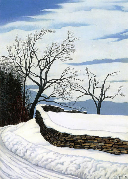 Wall Art - Painting - Where The Road Turns by George Copeland Ault
