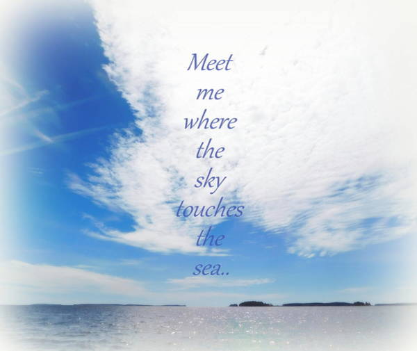 Wall Art - Photograph - Where The Sky Touches The Sea by Karen Cook